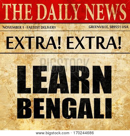 learn bengali, newspaper article text