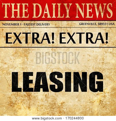 leasing, newspaper article text