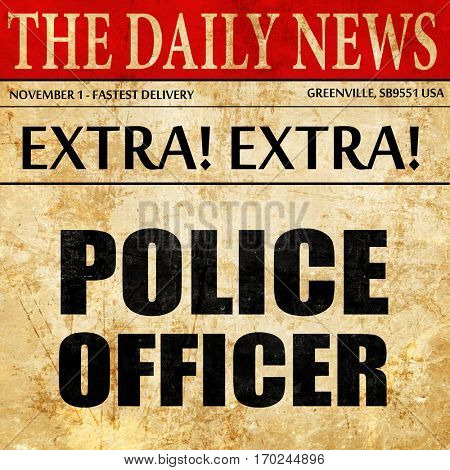 police officer, newspaper article text
