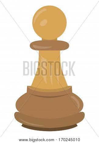 Isolated pawn piece on a white background, Vector illustration