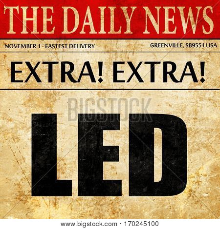 led, newspaper article text