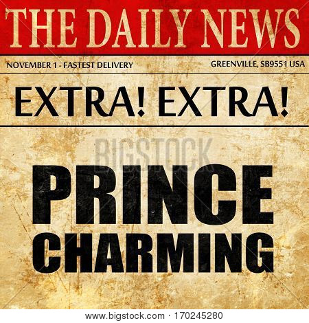 prince charming, newspaper article text
