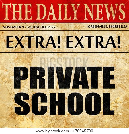 private school, newspaper article text
