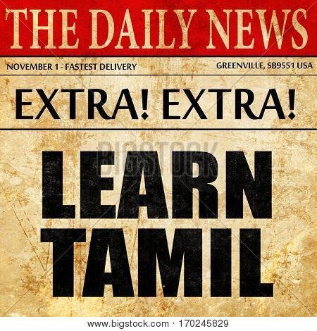 learn tamil, newspaper article text