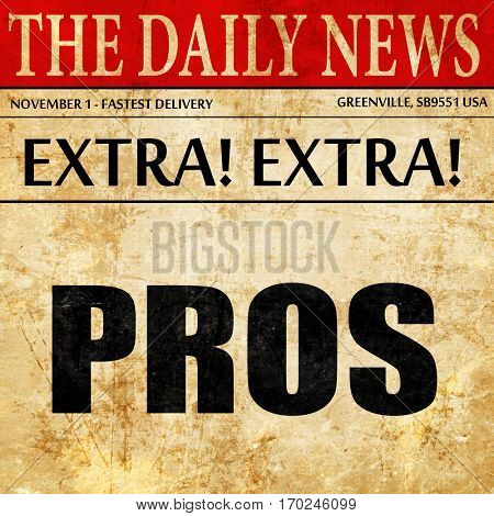 pros, newspaper article text