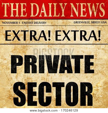 private sector, newspaper article text