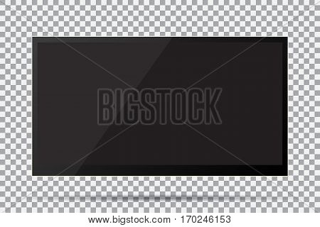 TV modern blank screen lcd led on isolate background stylish vector illustration EPS10