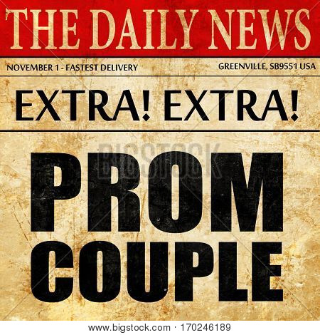 prom couple, newspaper article text