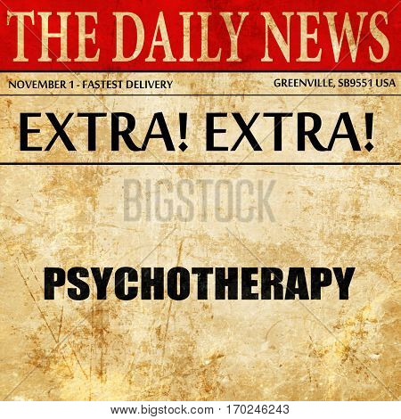 psychotherapy, newspaper article text
