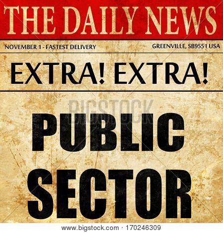 public sector, newspaper article text