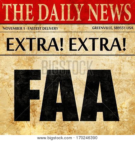 faa, newspaper article text