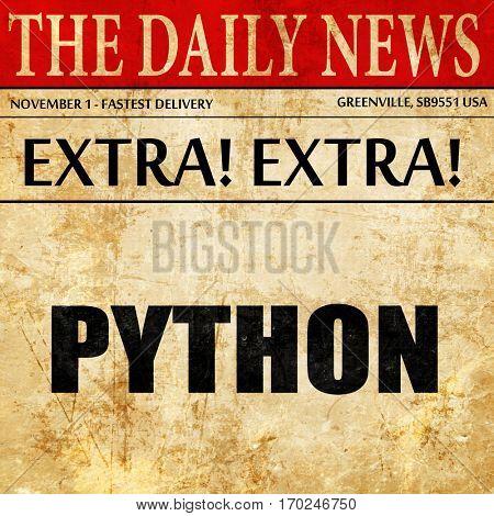 python computer language, newspaper article text