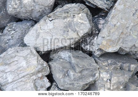 Large chunks of coal Anthracite, as a backdrop.