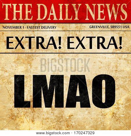 lmao internet slang, newspaper article text