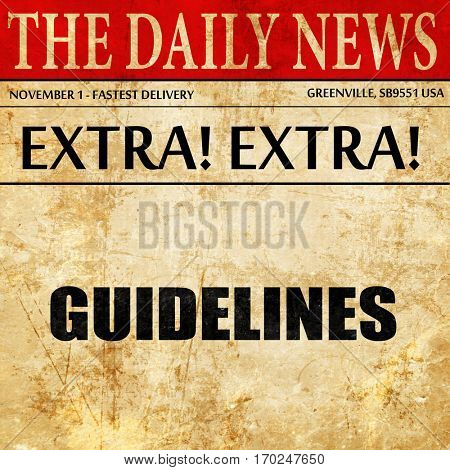 guidelines, newspaper article text