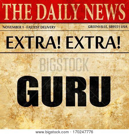 guru, newspaper article text