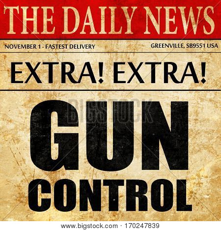 gun control, newspaper article text