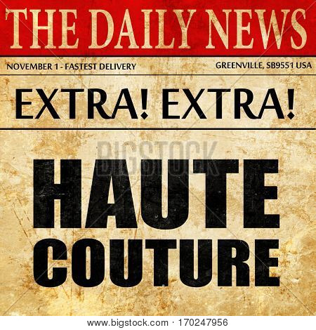couture, newspaper article text
