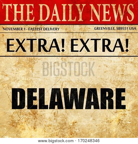 delaware, newspaper article text