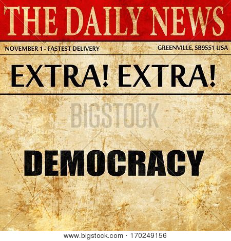 democracy, newspaper article text
