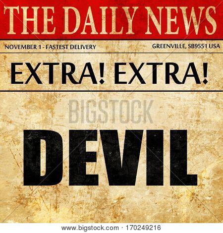 devil, newspaper article text