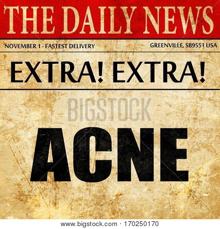 acne, newspaper article text