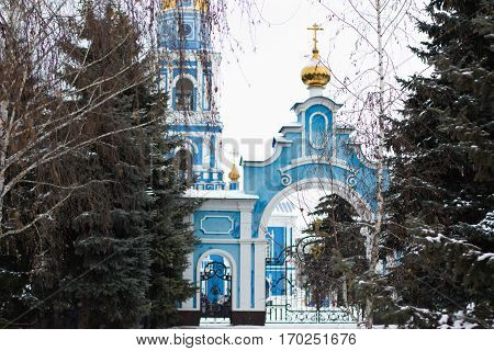 Holy Ascension Cathedral In Ulyanovsk, Russia.