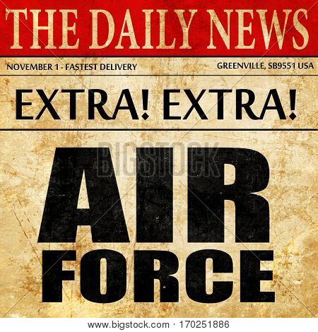 air force, newspaper article text