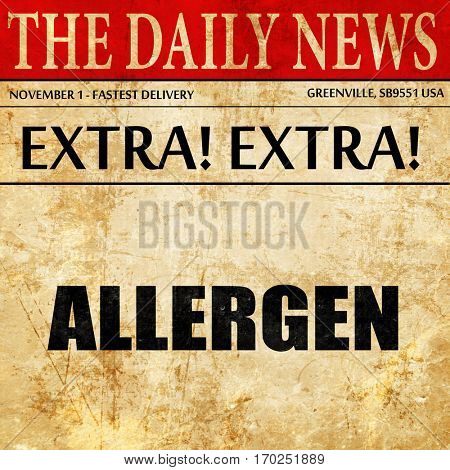 allergen, newspaper article text