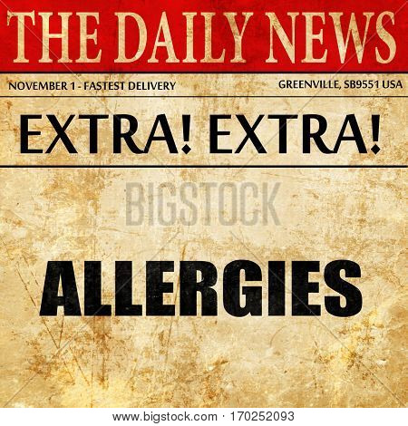 allergies, newspaper article text