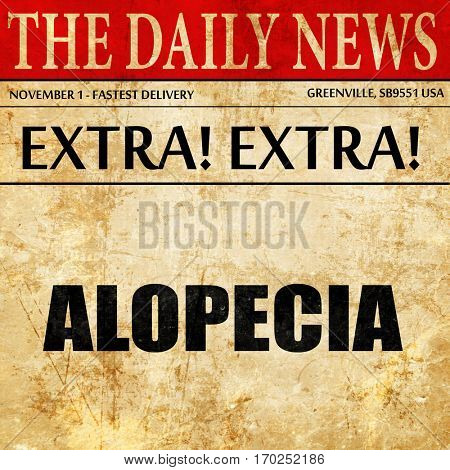 alopecia, newspaper article text