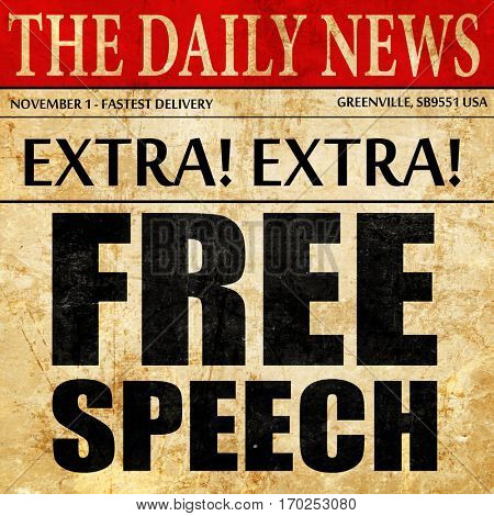 free speech, newspaper article text