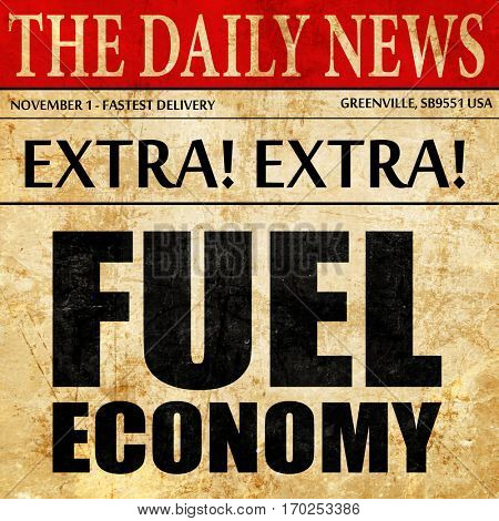 fuel economy, newspaper article text