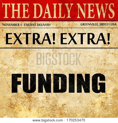 funding, newspaper article text