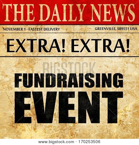 fundraising event, newspaper article text