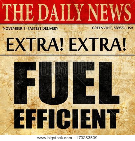 fuel efficient, newspaper article text