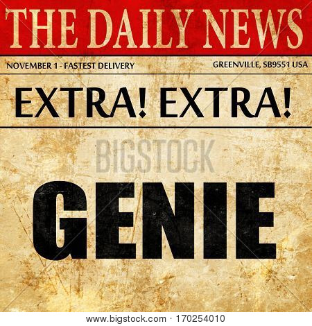 genie, newspaper article text