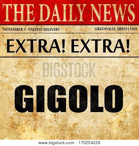 gigolo, newspaper article text