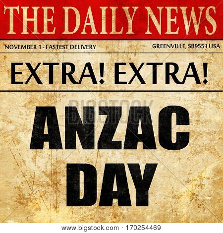 anzac day, newspaper article text
