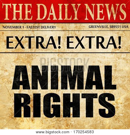 animal rights, newspaper article text