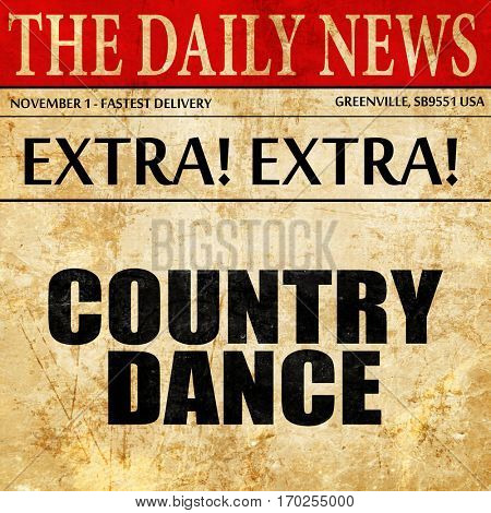 country dance, newspaper article text