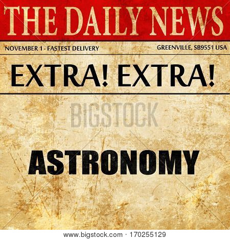 astronomy, newspaper article text
