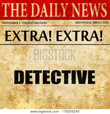 detective, newspaper article text
