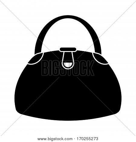 woman handbag fashion style pictogram vector illustration eps 10