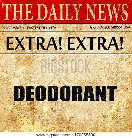 deodorant, newspaper article text