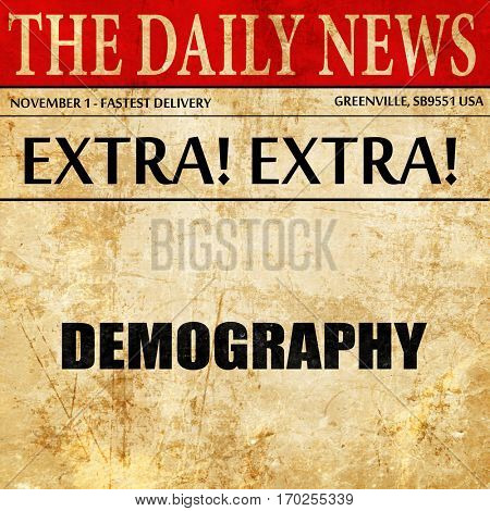 demography, newspaper article text