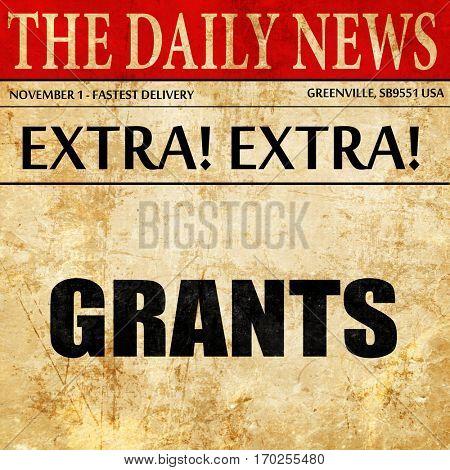 grants, newspaper article text