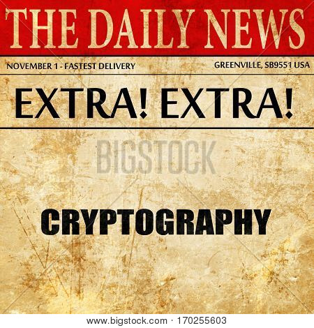 cryptography, newspaper article text