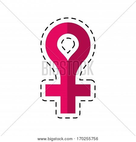 cartoon female gender symbol icon vector illustration eps 10