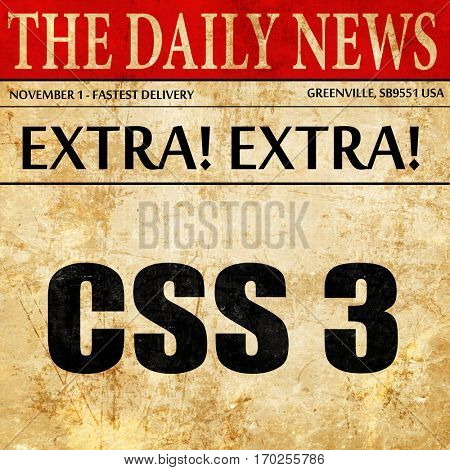 css 3, newspaper article text
